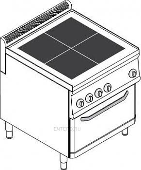 Плита электрическая Tecnoinox PFU70V7
