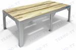 Подтоварник ПТ-500/1 столеш. деревянный настил