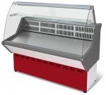 Витрина холодильная среднетемпературная ВХС-1,2 Нова (с гнутым стеклом, нерж.)