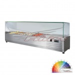 Настольная холодильная витрина ToppingBox НХВсп-9, 2025*390*510 с прямоугольным стеклом