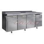 Стол холодильный для салатов СХСнс-700-3, 1485х700х850, 3 двери, GN 1/3(8),с крышкой