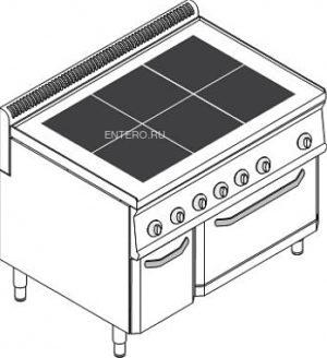 Плита электрическая Tecnoinox PFU105E7