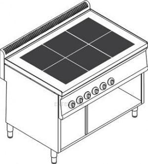 Плита электрическая Tecnoinox PCU105FE7